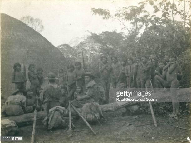 Reception of savages Image taken circa 191314 Bolivia 1913 Artist Percy Harrison Fawcett