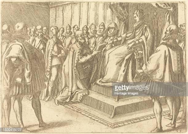 Reception of the Envoy of Poland, 1612. Artist Jacques Callot.