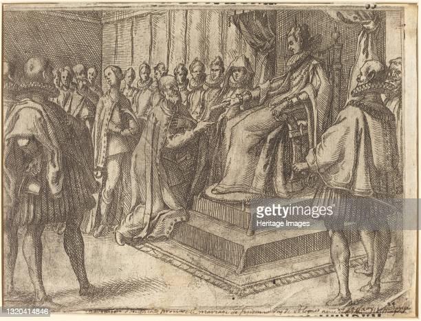 Reception of the Envoy of Poland [recto], 1612. Artist Jacques Callot.