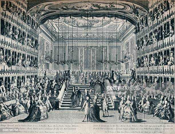 Reception of the Grand Duke and Duchess of Russia at the Theatre of San Bendetto'. From The Connoisseur Vol. IV [Otto Limited, London, 1902.] Artist:...