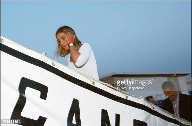 Reception on the 'Sebastian El Cano' at Palma Arrival of Infanta Cristina with her husband Inaki Urdangarin