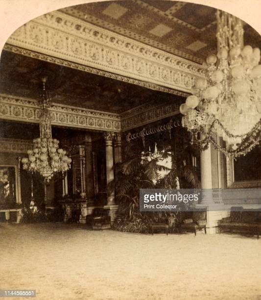 Reception Room White House Washington' circa 1900 The East Room of the White House Washington DC USA Event and reception room in the official...