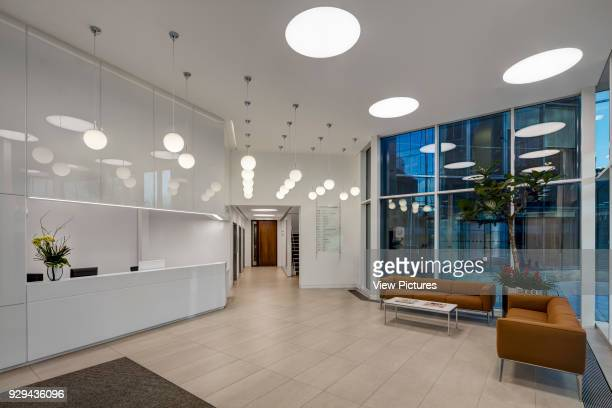 Reception view at the entrance Harbour Exchange London United Kingdom Architect Cove Burgess Architects 2016