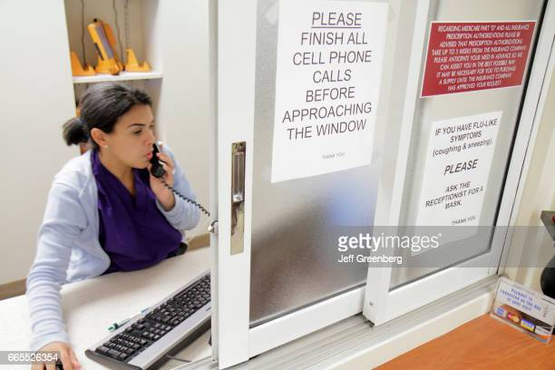 A receptionist at Mount Sinai Medical Center