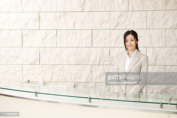 Receptionist, Tokyo Prefecture, Honshu, Japan