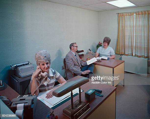 Receptionists at the Rest Haven Nursing Home in Spartanville South Carolina