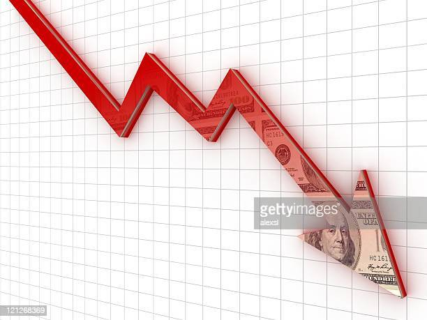 recession chart - stock market crash stock pictures, royalty-free photos & images