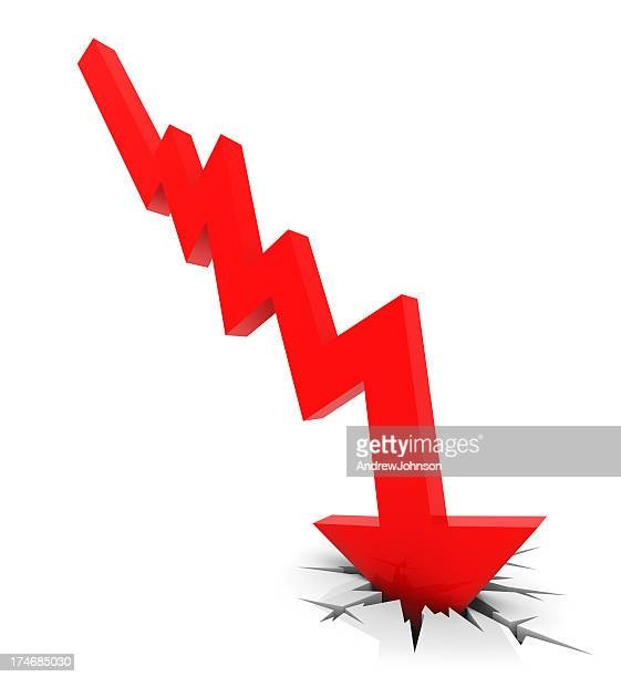 recession chart - bear market stock pictures, royalty-free photos & images