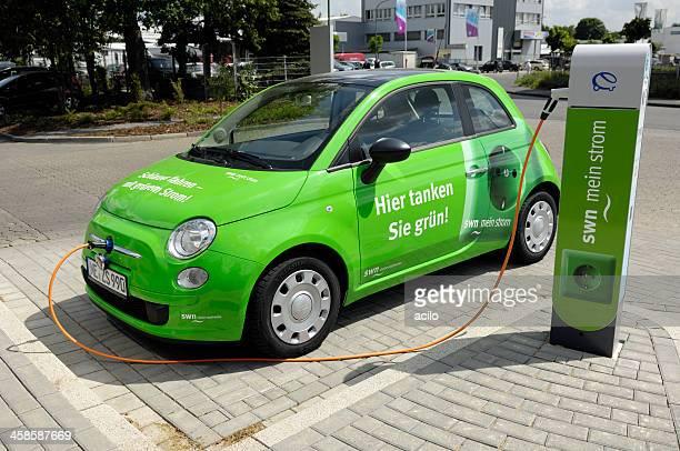 Aufladen Elektroauto Fiat 500