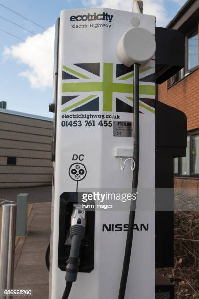 Recharging point for electric cars at a motorway service area UK