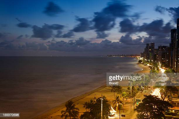 recife and boa viagem beach - recife stock pictures, royalty-free photos & images
