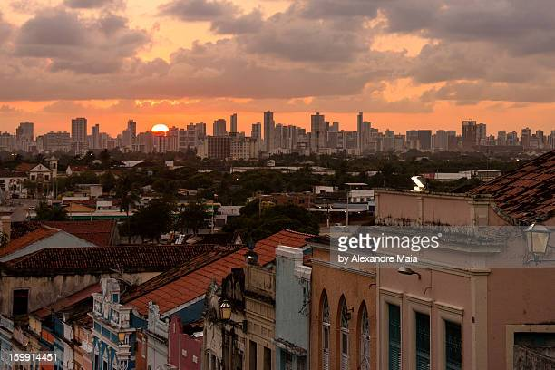 Recife, por Olinda (pôr-do-sol):