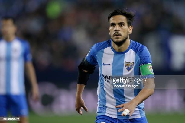 Recio of Malaga CF during the La Liga Santander match between Malaga v Valencia at the Estadio La Rosaleda on February 17 2018 in Malaga Spain