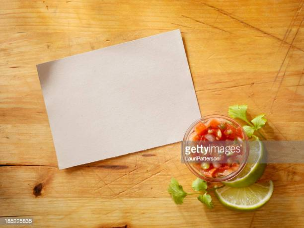 Recipe Card wih Salsa