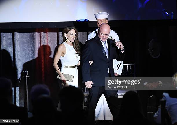 Recipient of The 2016 Intrepid 21stCentury Pioneer Award Astronaut Scott Kelly and Amiko Kauderer the Salute To Freedom 25th Anniversary Gala at...