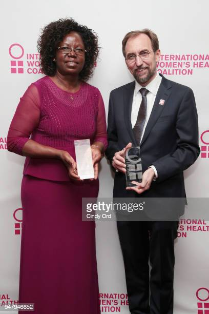 Recipient of the 2018 Joan B Dunlop award Monica Oguttu and recipient of the IWHC Visionary Leadership Award Zeid Ra'ad al Hussein attend the...