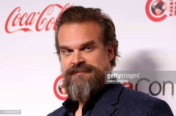 "Recipient of the ""Action Star of the Year"" award actor David Harbour attends the CinemaCon Big Screen Achievement Awards at Omnia Nightclub at..."