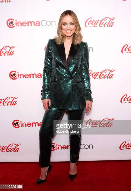 Recipient of the Breakthrough Director of the Year Award actress and director Olivia Wilde attends the CinemaCon Big Screen Achievement Awards at...