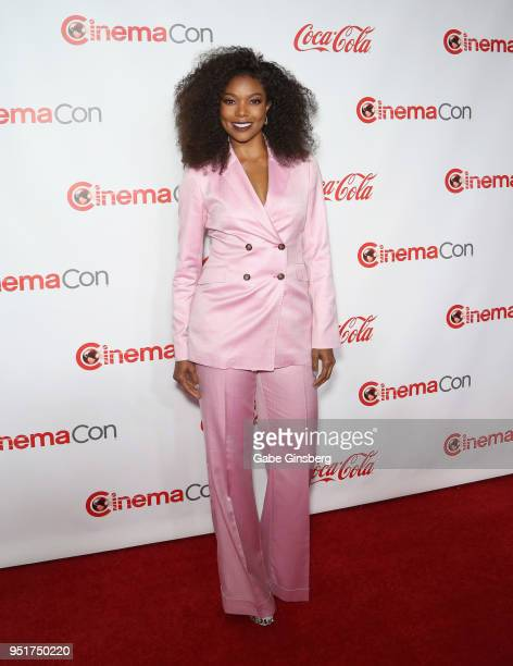 Recipient of the Breakthrough Producer of the Year award actress/producer Gabrielle Union attends the CinemaCon Big Screen Achievement Awards at...