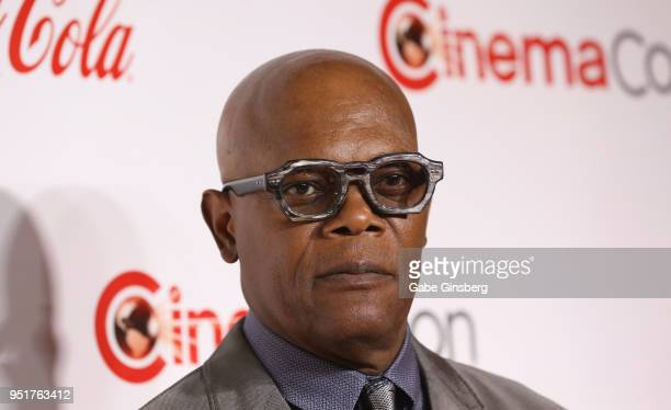 Recipient of the Cinema Icon Award actor Samuel L Jackson attends the CinemaCon Big Screen Achievement Awards at Omnia Nightclub at Caesars Palace...