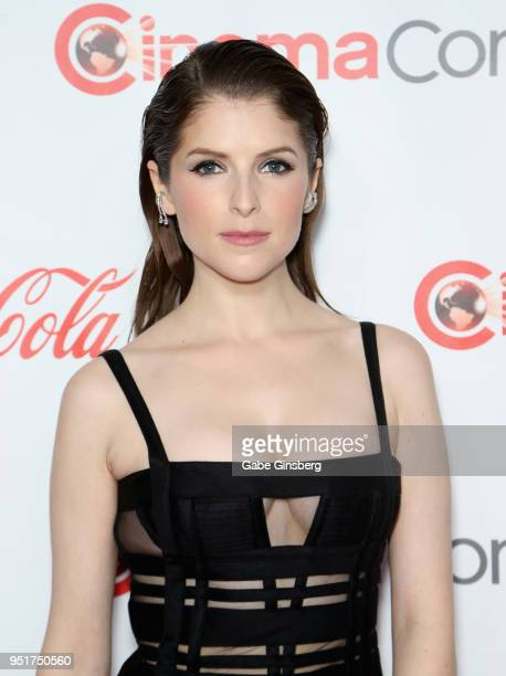 Recipient of the 'Cinema Spotlight Award' actress Anna Kendrick attends the CinemaCon Big Screen Achievement Awards at Omnia Nightclub at Caesars...