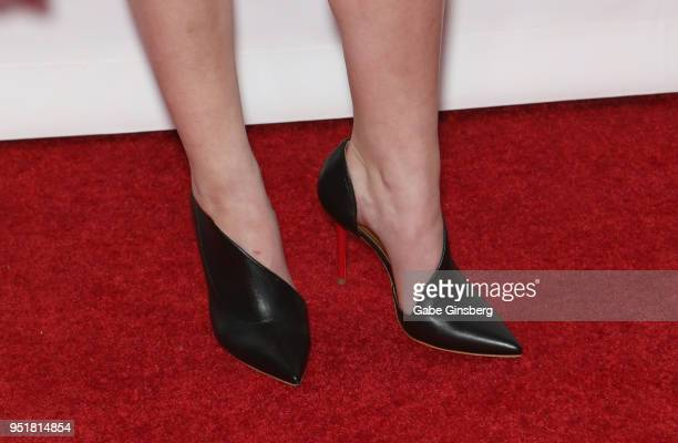 Recipient of the 'Cinema Spotlight Award' actress Anna Kendrick shoes detail attends the CinemaCon Big Screen Achievement Awards at Omnia Nightclub...