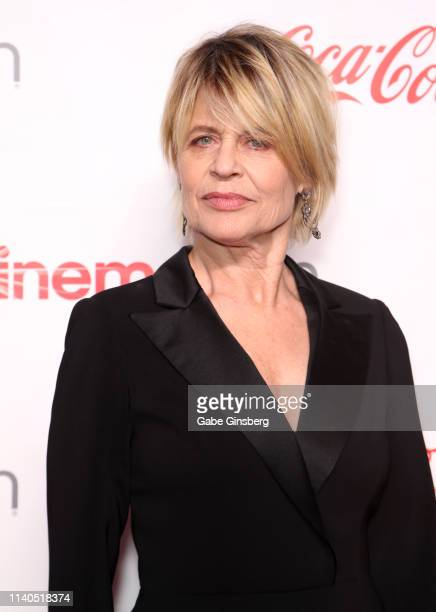 "Recipient of the CinemaCon Ensemble Award for the upcoming movie ""Terminator Dark Fate"" actress Linda Hamilton attends the CinemaCon Big Screen..."