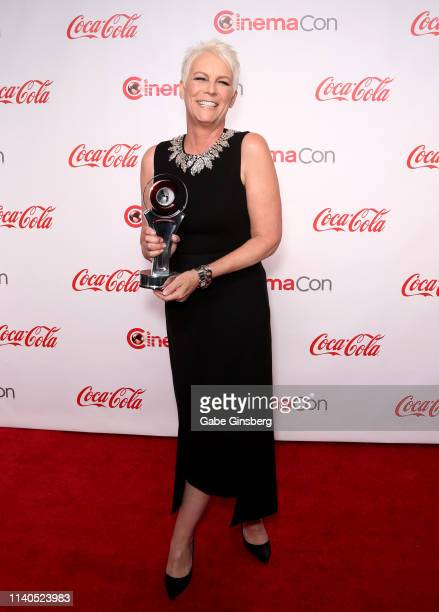 Recipient of the CinemaCon Vanguard Award actress Jamie Lee Curtis attends the CinemaCon Big Screen Achievement Awards at Omnia Nightclub at Caesars...