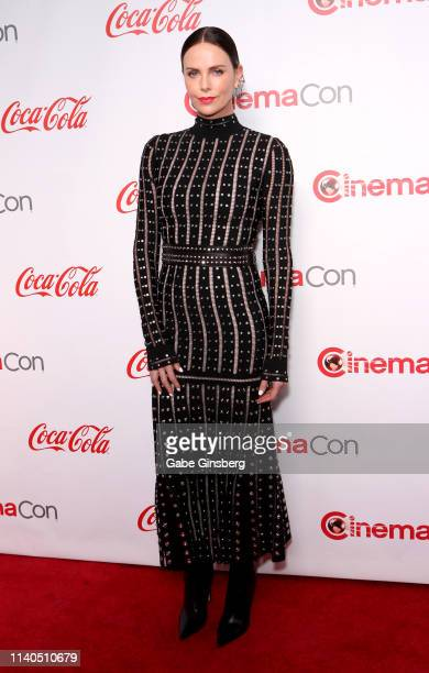 Recipient of the Comedy Stars of the Year award actress Charlize Theron attends the CinemaCon Big Screen Achievement Awards at Omnia Nightclub at...