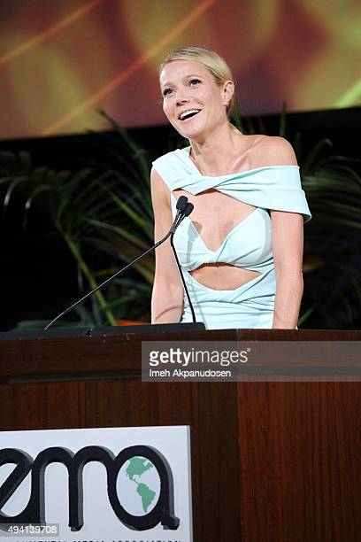 Recipient of the EMA Green Parent Award Gwyneth Paltrow speaks onstage during the 25th annual EMA Awards presented by Toyota and Lexus and hosted by...