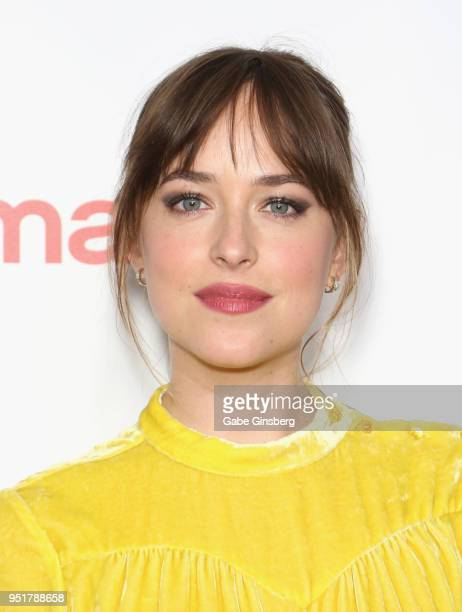 Recipient of the Female Star of the Year award actress Dakota Johnson attends the CinemaCon Big Screen Achievement Awards at Omnia Nightclub at...