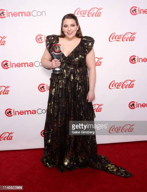 Recipient of the Female Stars of Tomorrow award actress Beanie Feldstein attends the CinemaCon Big Screen Achievement Awards at Omnia Nightclub at...