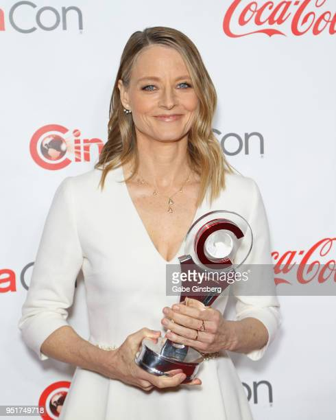 Recipient of the Lifetime Achievement Award award director/actress Jodie Foster attends the CinemaCon Big Screen Achievement Awards at Omnia...