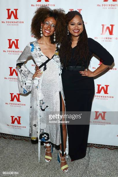 Recipient of the Marie C Wilson Emerging Leader Award Elaine Welteroth and Academy AwardNominated Director and WOV Honoree Ava DuVernay attend the Ms...