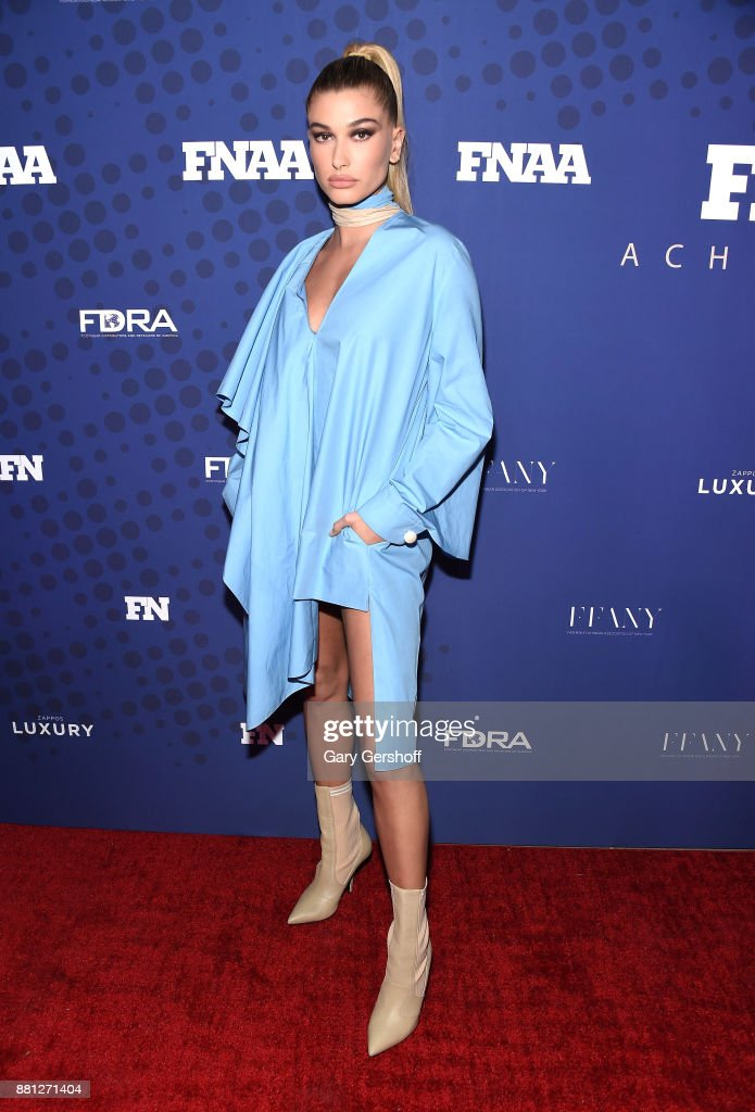Recipient of the Style Influencer of the Year Award, Hailey Baldwin attends the 31st FN Achievement Awards at IAC Headquarters on November 28, 2017 in New York City.