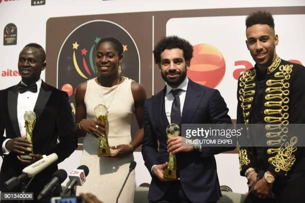 Senegalese Sadio Mane African Female Footballer of the Year Nigerian Asisat Oshoala African Footballer of the Year Egypt and Liverpool striker...