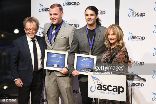 Recipients of the Mariana Paul Williams 'Sunlight of the Spirit' Award Thomas Yurkovic and Patrick Ward accept from ASCAP President Paul Williams and...