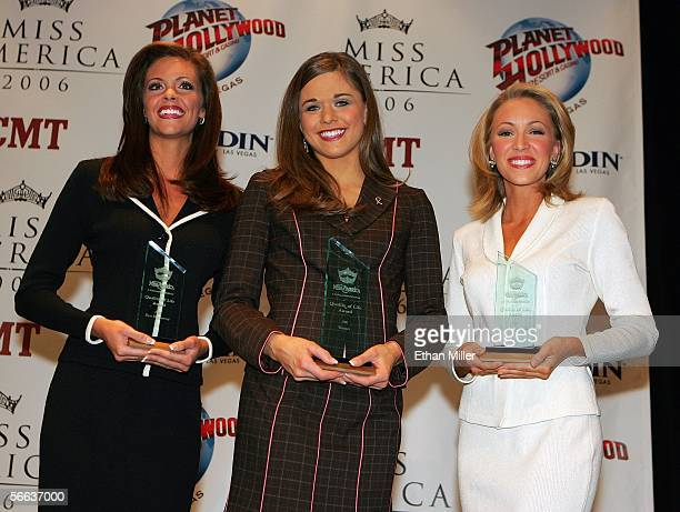 Recipients of the Miss America 2006 Quality of Life Award first runnerup Jennifer Berry Miss Oklahoma winner Tracey Brown Miss Idaho and second place...