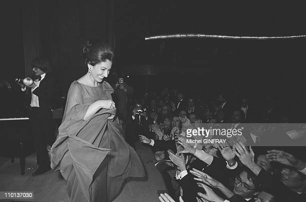 Recital of Maria Callas in ParisFrance on December 7th1973