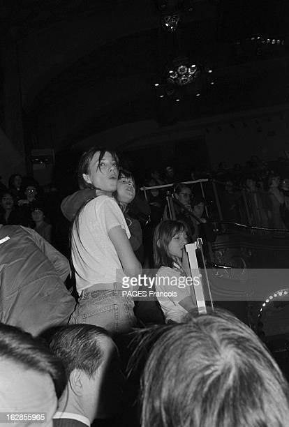 Recital Of Serge Gainsbourg At The Palace A Paris le 26 decembre 1979 le chanteur Serge GAINSBOURG donne un tour de chant au Palace Dans le public sa...