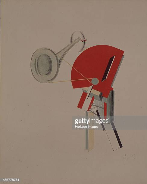 Reciter Figurine for the opera Victory over the sun by A Kruchenykh 19201921 Artist Lissitzky El