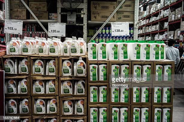 Reckitt Benckiser Group Plc Dettol liquid soaps are displayed for sale at a Bharti Walmart Pvt Ltd Best Price Modern Wholesale store in Zirakpur on...