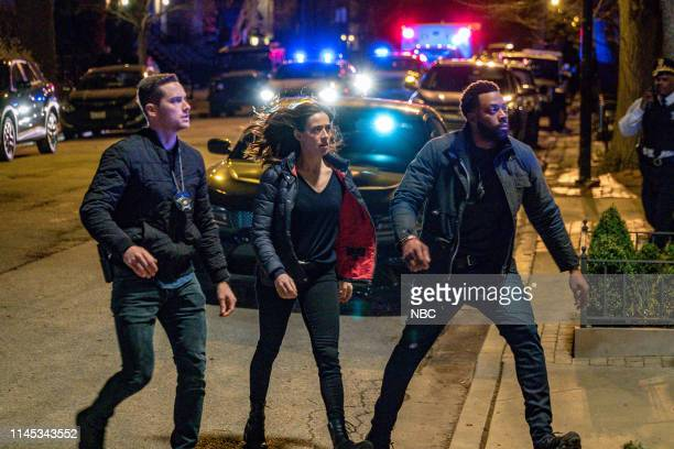 "Reckoning"" -- Episode 622 -- Pictured: Jesse Lee Soffer as Det. Jay Halstead, Marina Squerciati as Officer Kim Burgess, LaRoyce Hawkins as Officer..."