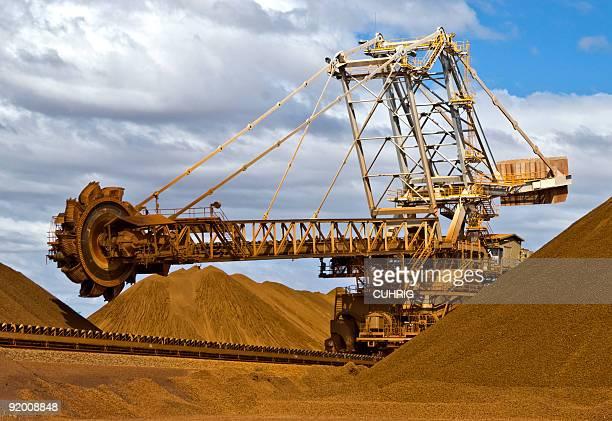 Reclaimer on Iron Ore Mine Site