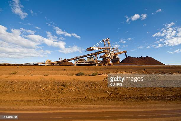 Reclaimer Stacker on Iron Ore Mine Site