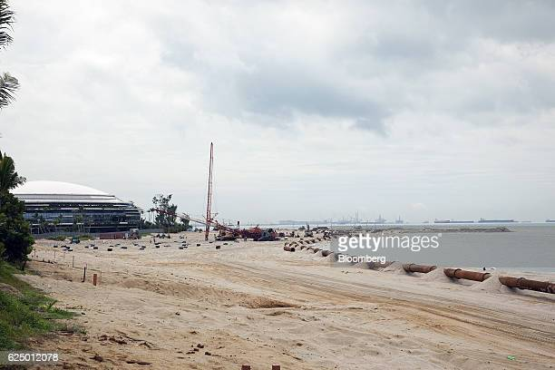 Reclamation works continue at the Country Garden Holdings Co Forest City development site in Iskandar Malaysia zone of Johor Bahru Johor Malaysia on...