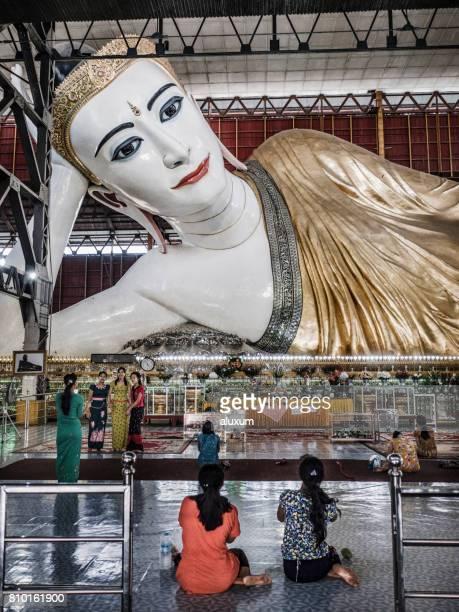 Reclining Buddha at Chauk Htat Gyi Pagoda Yangon Myanmar