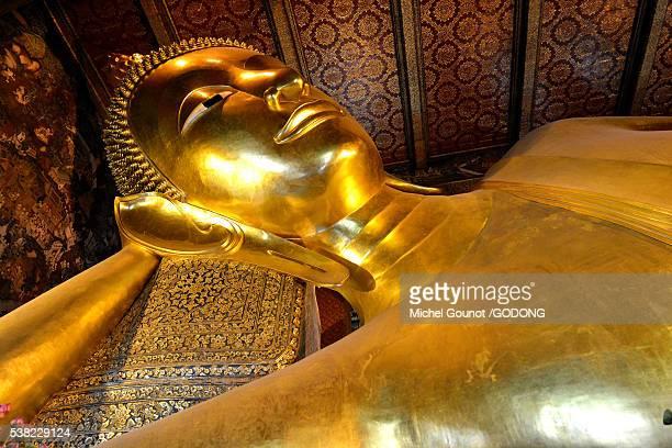 Reclining Buddha in Wat Pho (detail).