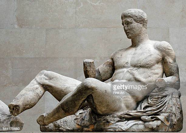 Reclining Dionysos from Parthenon east pediment circa 447433 BC Dimensions Width 13 m Former Elgin collection Located in the British Museum London...