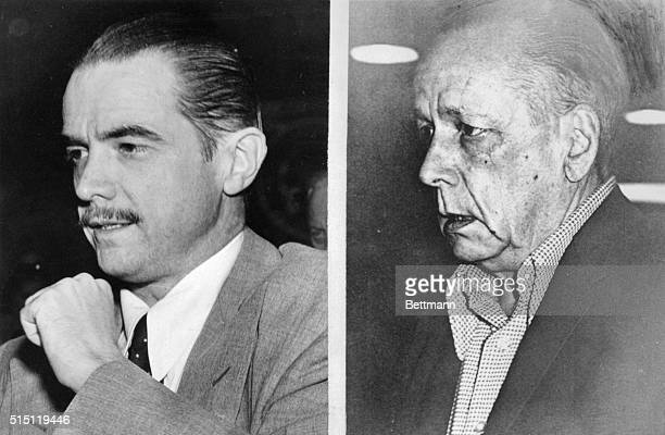 Reclusive billionaire industrialist Howard Hughes in a 1947 photo and in 1972 The 1972 photo was taken in Vancouver British Columbia and is believed...